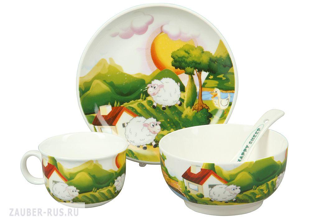 Ebulobo мишка 04eb0017 детский набор посуды из 4 предметов в наличии